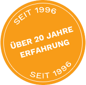 20 Jahre Erfahrung - seit 1996